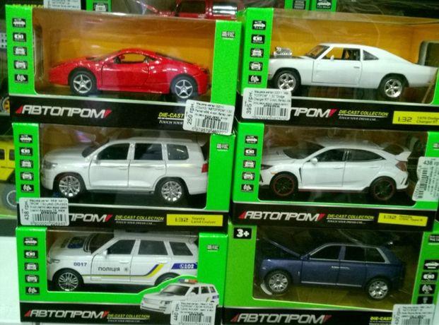 Машинки металические детские Kinsmart,Автопром,Автосвит в ассортименте