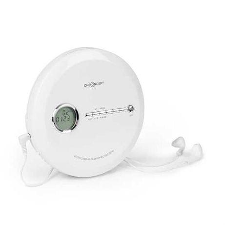Discman Odtwarzacz CD ESP Micro-USB, biały CDC 100MP3