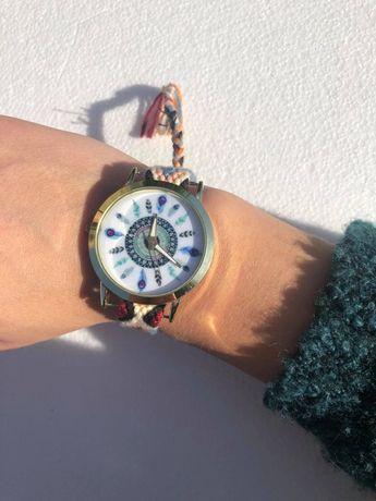 Relógio pulseira, boho, vintage
