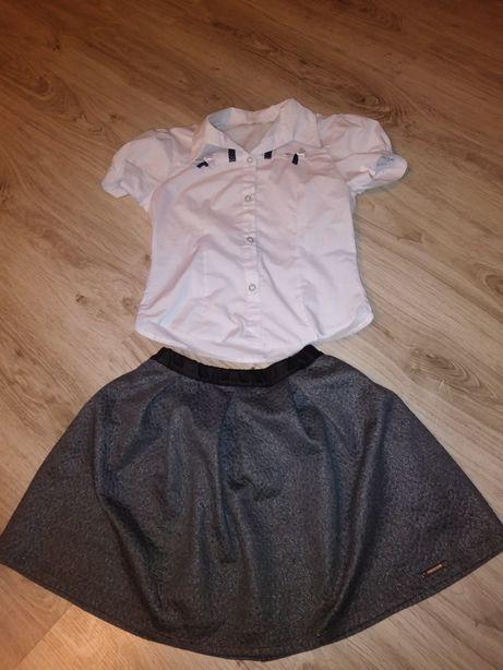 Spódnica i koszula 146 cm