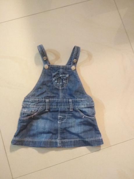 Sukienka jeansowa 9-12 miesięcy
