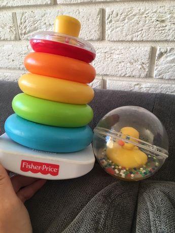 Fisher Price wieża kaczka kula zabawki