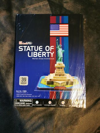 Puzzle 3D nowe statua wolności