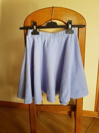 Błękitna spódnica z koła rozm. 36