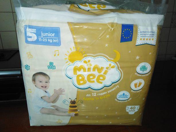 Памперсы Mini Bee, размер 5, новые