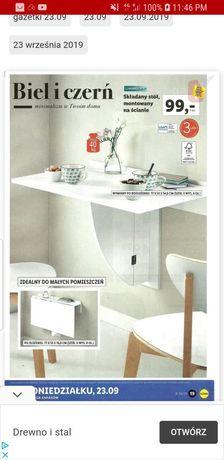 Składany stół montowany na ścianę biały
