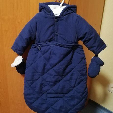 Демисезонный комбинезон Idexe Италия мешок конверт куртка с варежками