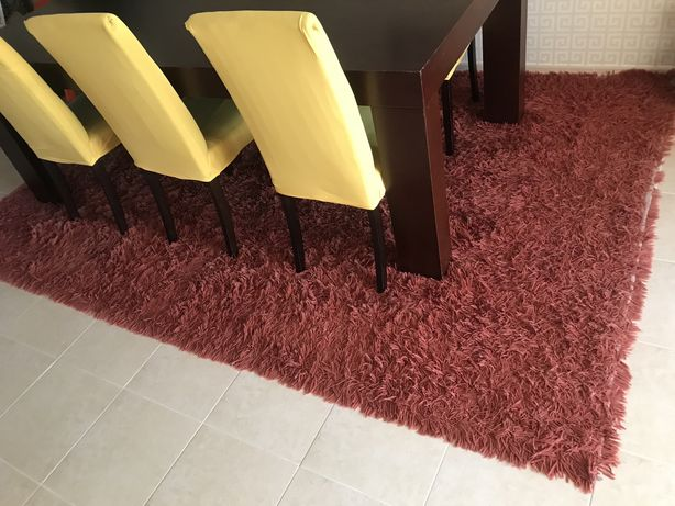 2 carpetes de pelo alto
