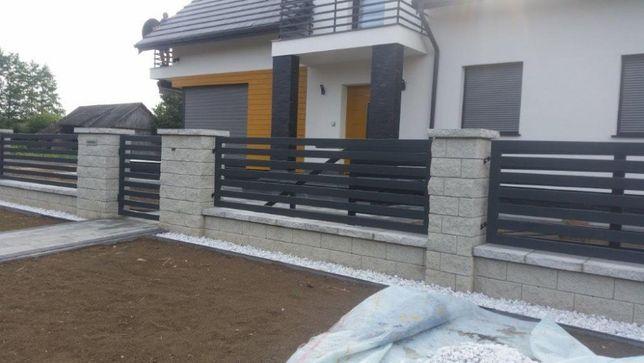 Ogrodzenia łupane,betonowe Joniec bloczek Gm 38/22/16 onyx