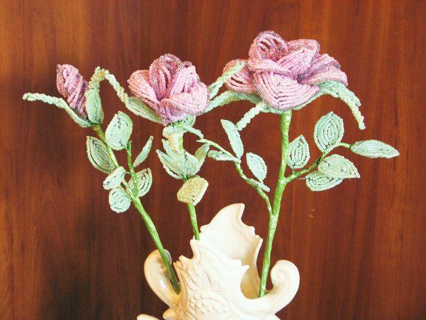Розы из бисера цветы из бисера