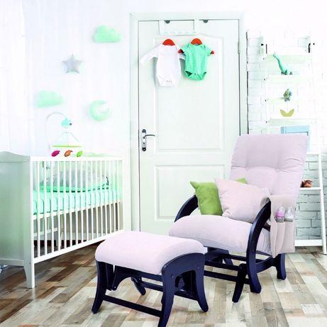 кресло-качалка для кормления+пуф