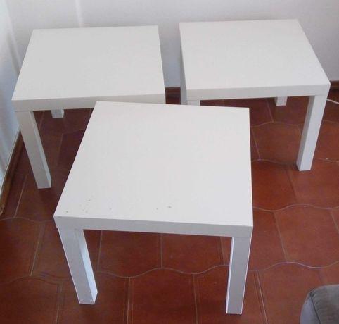 Mesas IKEA Lack brancas e 1 banco branco