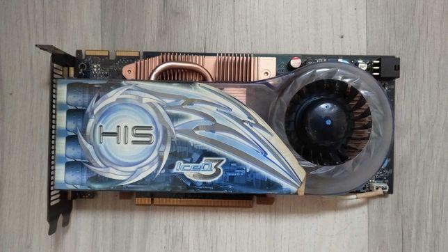 Karta graficzna PSI express x16 Radeon HD3870 z dobrym chłodzeniem.