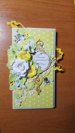 Листівка шоколадниця ручної роботи / конверт открытка