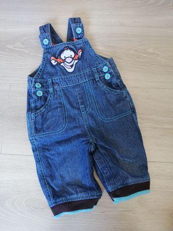 Spodnie na szelkach 62/68 Disney