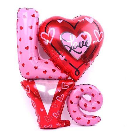 Duży balon napis LO-VE ślub wesele walentynki romantyczny na hel