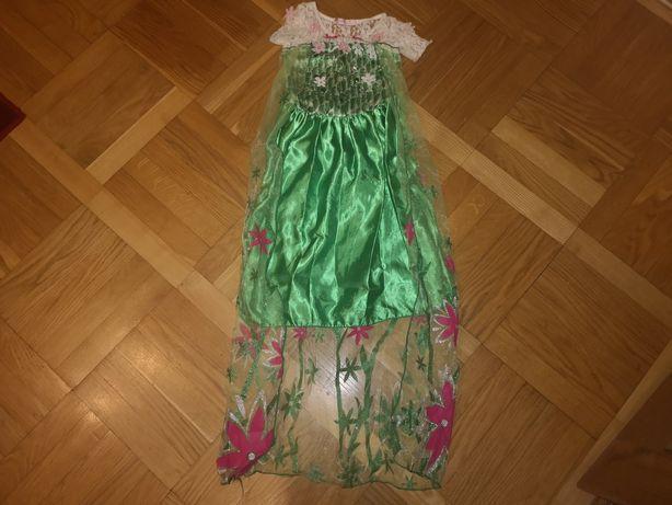 Sukienka Anny z Krainy Lodu,księżniczka  Anna elsa Frozen roz.120cm