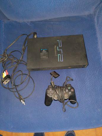 Playstation 2 + Comando + Cartão de memória + 2 Jogos