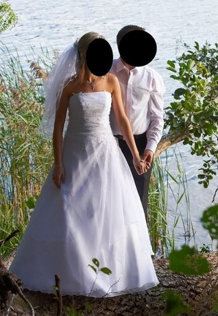 Okazja! Suknia ślubna welon bolerko