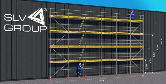 Rusztowanie 185,40 m2 (18m x 8,3m) SLV 70 Plettac