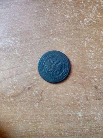 Монета 1896г 2 копейки