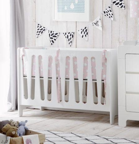 Łóżczko niemowlęce Pinio Moon 120x60 z szugfladą