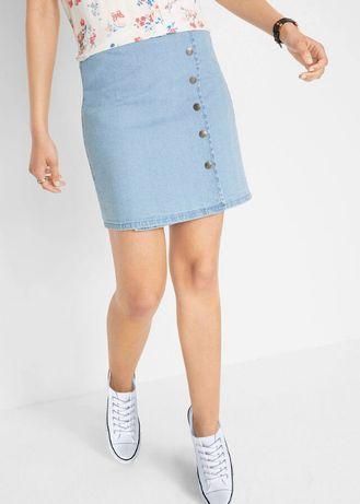 Джинсовая юбка на запах