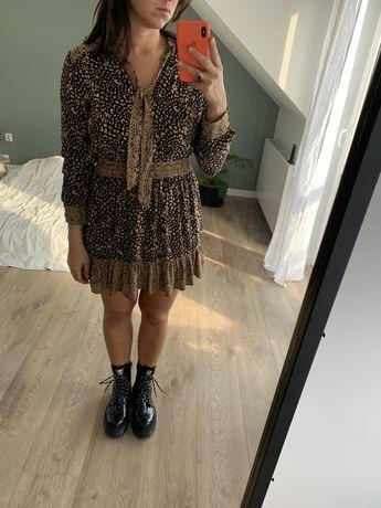 ZARA sukienka w panterkę M