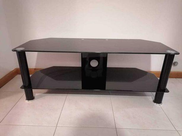 Mesa apoio a tv preta
