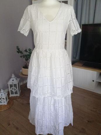 Sukienka maxi boho ażurowa haftowana pices 36 s