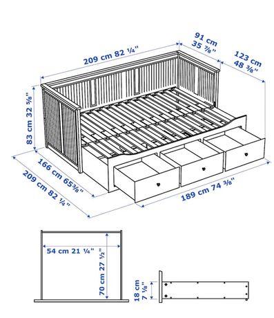 Cama Individual/Casal com 3 gavetas e 2 colchões