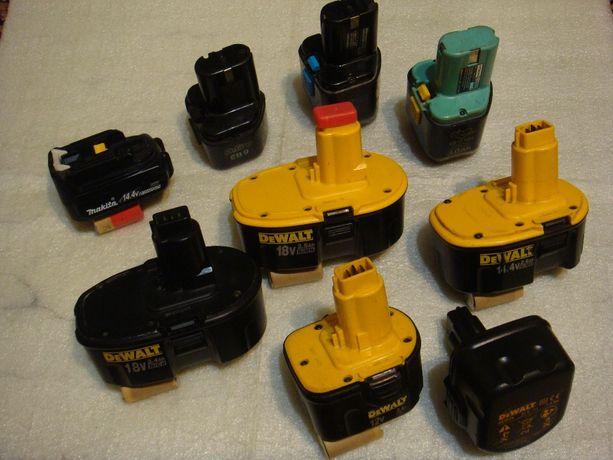Аккумуляторы,акумуляторы,акамуляторы,батареи,корпуса для шуруповёртов.