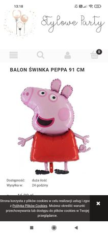 Balon Peppa nadmuchany