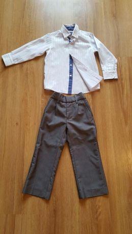 Next elegancki komplet chłopięcy (koszula + 2 pary spodnie)r. 98
