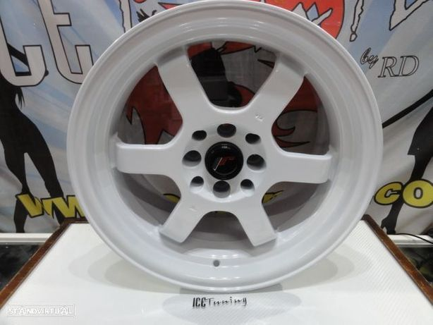 ULTIMA UNIDADE Jante Original Japan Racing JR12 16x8 ET15 4x100 / 114.3 Branco