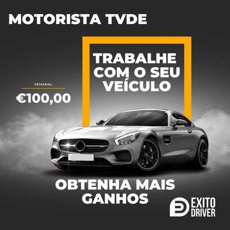 Aluguer Slots TVDE - MOTORISTA TVDE  (Bolt, FreeNow) 100,00