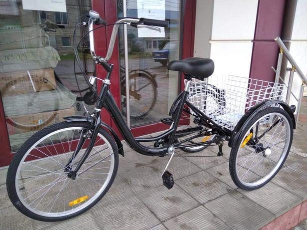 Трехколесный велосипед 7 скоростей, для взрослых, трицикл, велорикша