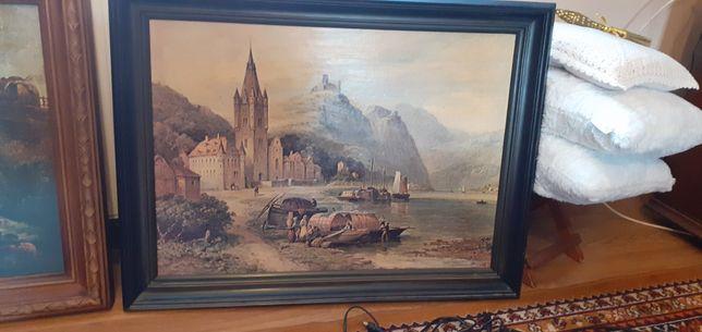 Obraz reprodukcja Zamek w Mosella