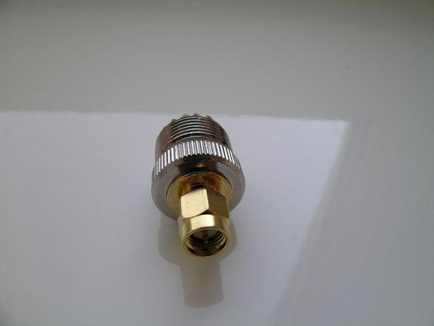 Переходник SMA - UHF/ PL259/ SO239. Новый !