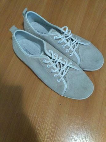 Замшевые туфли-мокасины