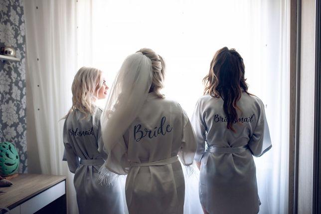 Халат на утро невесты на девичник халаты подружек невесты