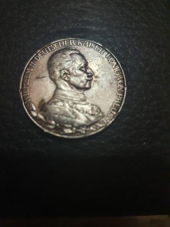 Продам серебряную монету 2 марки 1913г.