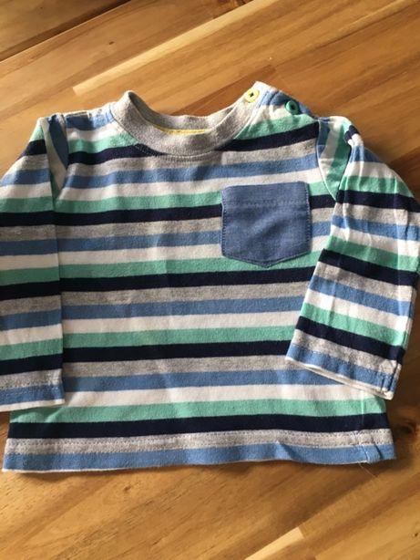 Bawełniana koszulka w paski 62cm