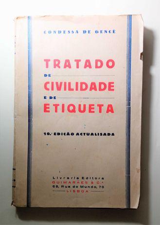 Tratado de Civilidade e de Etiqueta. GENCÉ. (Condessa de). 1935