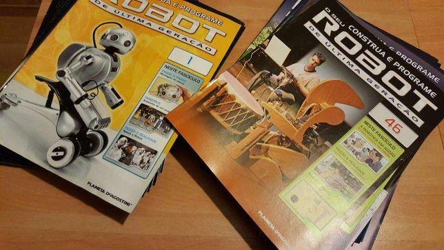"""Coleção completa """"Construa e programe Robot"""" da Planeta DeAgostini"""