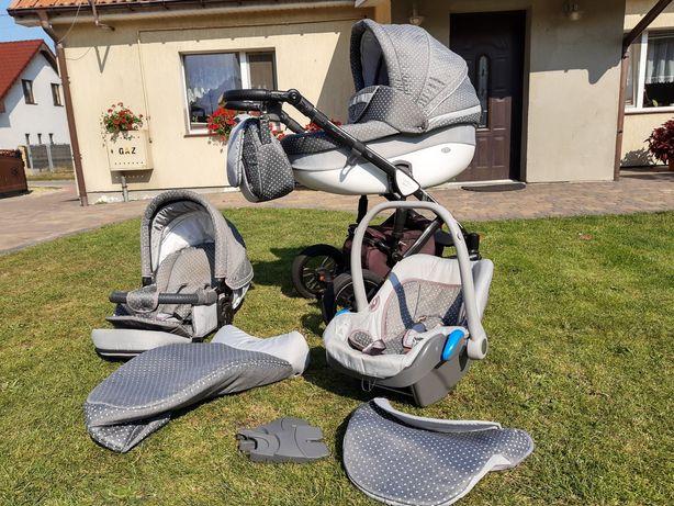 Wózek dziecięcy 3w1 Baby Merc Faster Style Stan bdb.