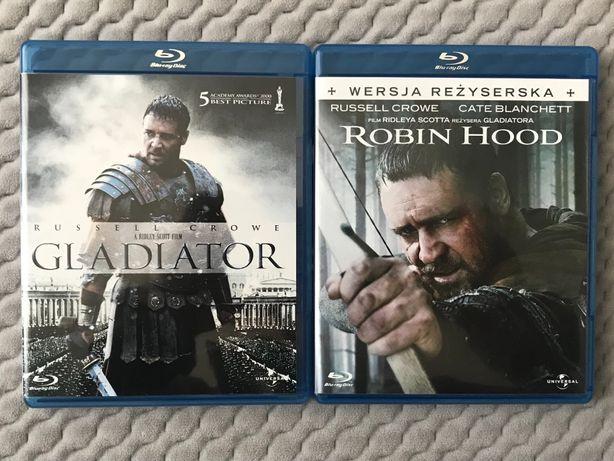 """Gladiator"" i ""Robin Hood"" - 2 Blu-ray - polski lektor"