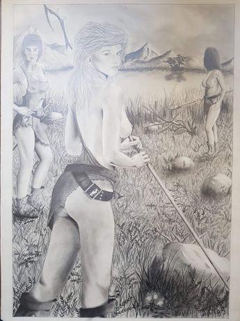 Szkic/Obraz 80x50cm Rok 1989r