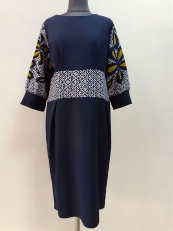 Нарядное платье с рукавами колокольчиками новое 48 - 50