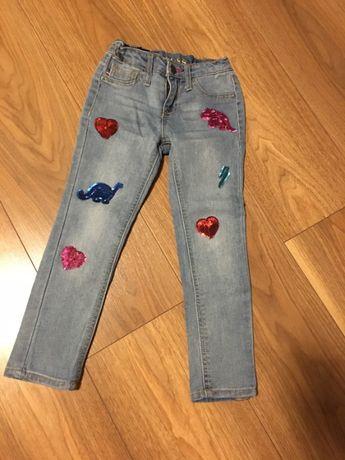 Spodnie jeans dla dziewczynki 104/110